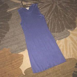 Purple silk Ann Taylor dress, size small